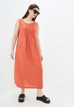 Платье Electrastyle. Цвет: оранжевый