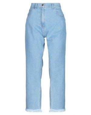 Джинсовые брюки-капри NANUSHKA. Цвет: синий