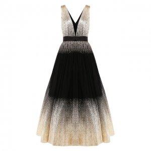 Платье Jenny Packham. Цвет: чёрный