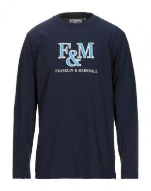 Футболка FRANKLIN & MARSHALL. Цвет: темно-синий