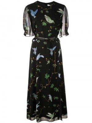 Платье миди с принтом Altuzarra