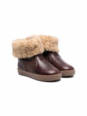 Ботинки с мехом Pèpè. Цвет: коричневый