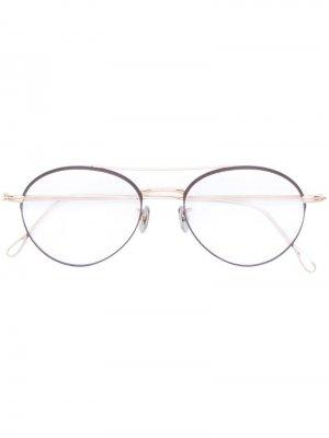 Круглые очки Eyevan7285. Цвет: золотистый
