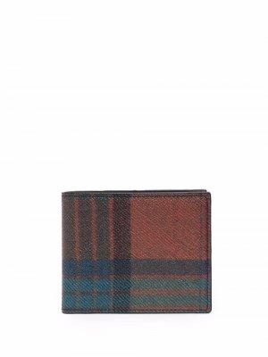 Бумажник в клетку ETRO. Цвет: синий