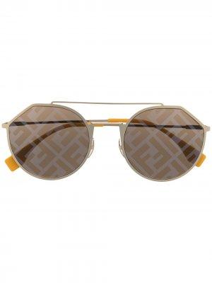 Солнцезащитные очки Eyeline Fendi Eyewear. Цвет: золотистый