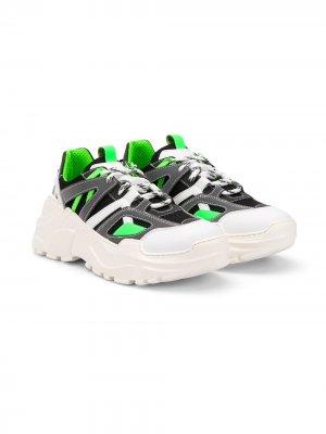 Кроссовки на утолщенной подошве Cinzia Araia Kids. Цвет: белый