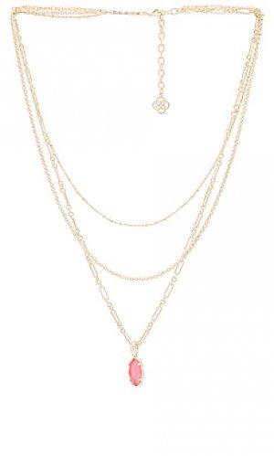 Ожерелье ellie Kendra Scott. Цвет: металлический золотой