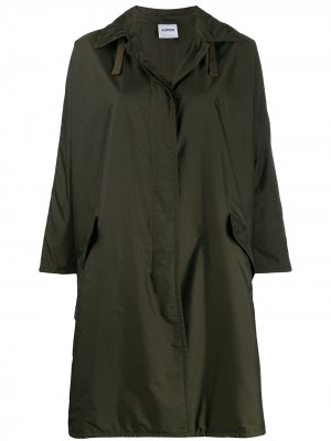 Однобортное пальто Aspesi. Цвет: зеленый