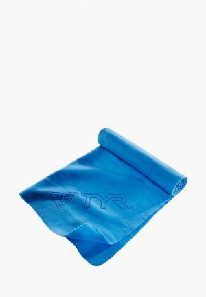 Полотенце TYR DRY OFF SPORT TOWEL. Цвет: голубой
