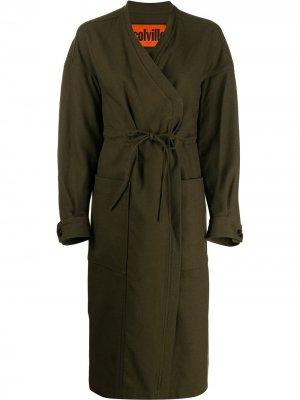 Пальто с кулиской colville. Цвет: зеленый