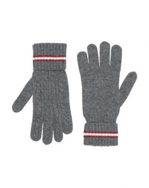 Перчатки BALLY. Цвет: серый