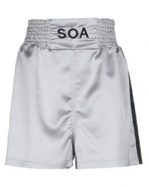 Повседневные шорты SOALLURE. Цвет: светло-серый