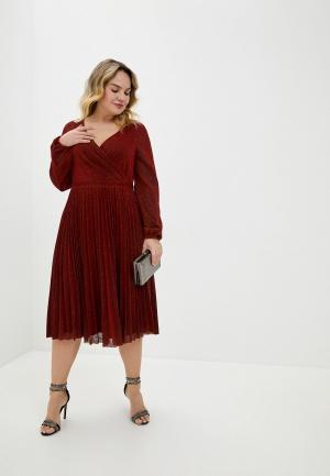 Платье Goddiva Size Plus. Цвет: красный