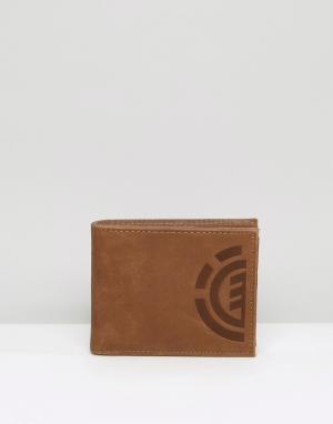 Кожаный бумажник Daily Element. Цвет: коричневый