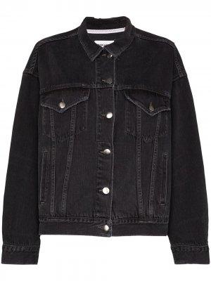 Джинсовая куртка Le unisex FRAME. Цвет: черный