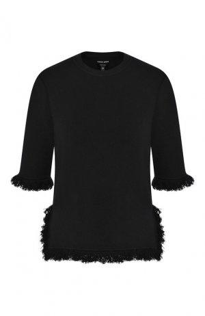 Пуловер из смеси шерсти и кашемира Giorgio Armani. Цвет: черный