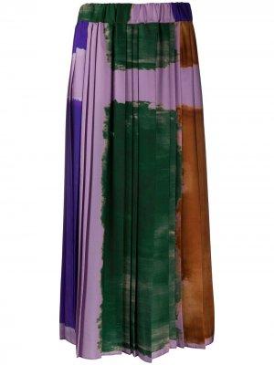 Плиссированная юбка макси Altea. Цвет: фиолетовый