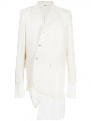 Деконструированный пиджак Comme Des Garçons Homme Plus. Цвет: белый