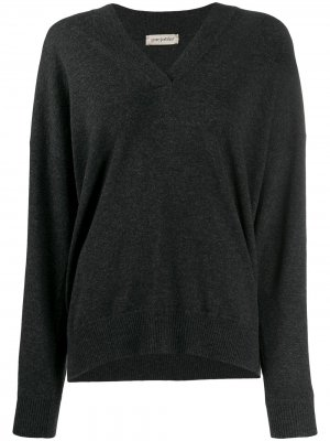 Пуловер со стразами Gentry Portofino. Цвет: серый