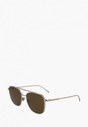 Очки солнцезащитные Lacoste 217S. Цвет: золотой