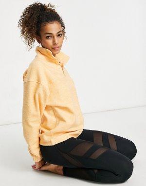 Куртка из искусственного меха с короткой молнией -Оранжевый цвет ASOS 4505
