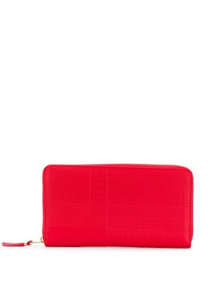Кошелек с принтом Comme Des Garçons Wallet. Цвет: красный