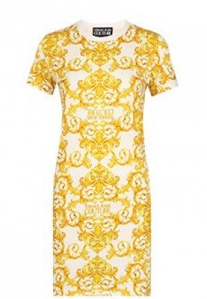 Платье VERSACE JEANS COUTURE. Цвет: белый