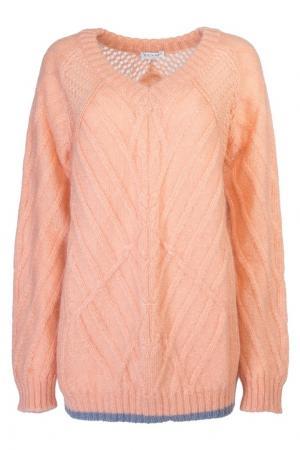 Пуловер из светло-оранжевого мохера Vionnet