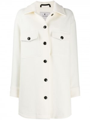 Пальто с бахромой на рукавах Woolrich. Цвет: белый