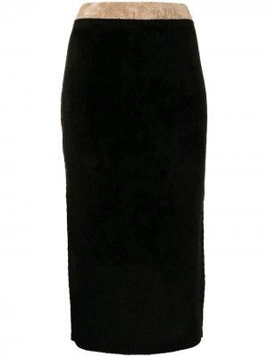 Трикотажная юбка-карандаш длины миди Antonio Marras. Цвет: черный