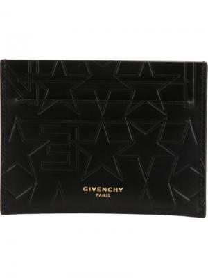 Визитница со звездами Givenchy. Цвет: чёрный
