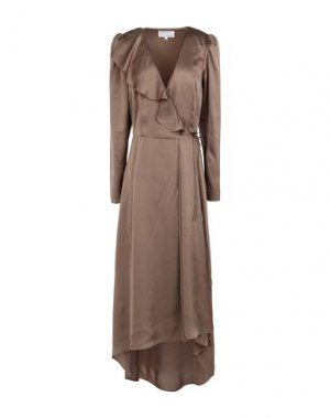 Длинное платье DESIGNERS, REMIX. Цвет: зеленый-милитари