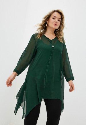 Блуза Svesta. Цвет: зеленый
