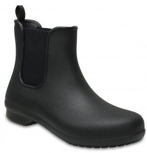 Резиновые полусапожки женские CROCS Womens Freesail Chelsea Boot Black/Black (Черный) арт. 204630. Цвет: черный