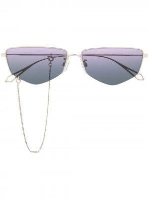 Футуристичные солнцезащитные очки McQ Alexander McQueen. Цвет: золотистый