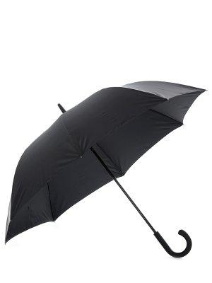 Зонт-трость складной однотонный ELEGANZZA. Цвет: черный
