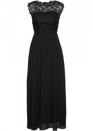 Вечернее платье bonprix. Цвет: черный
