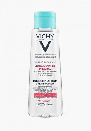 Мицеллярная вода Vichy с минералами для чувствительной кожи.. Цвет: прозрачный