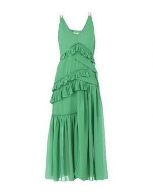 Длинное платье AQUILANO-RIMONDI. Цвет: зеленый