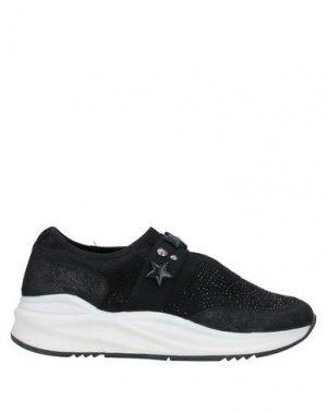 Низкие кеды и кроссовки CAFèNOIR. Цвет: черный