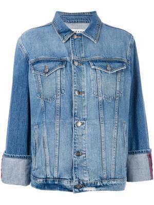 Джинсовая куртка мешковатого кроя Frame Denim. Цвет: синий