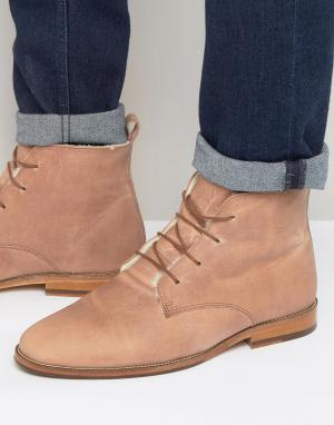Ботинки на меховой подкладке со шнуровкой LExplorateur Bobbies. Цвет: розовый
