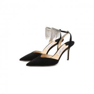 Замшевые туфли Birtie 85 Jimmy Choo. Цвет: чёрный