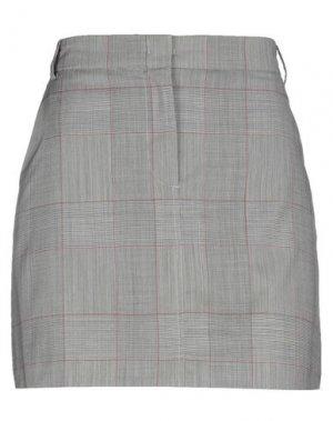 Мини-юбка MAX & CO.. Цвет: серый