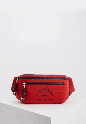 Сумка поясная Karl Lagerfeld. Цвет: красный