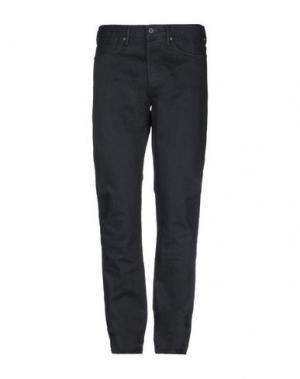 Джинсовые брюки KURO. Цвет: черный