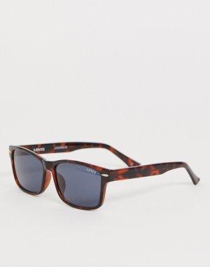 Солнцезащитные очки в квадратной черепаховой оправе с затемненными стеклами Levis-Коричневый Levi's