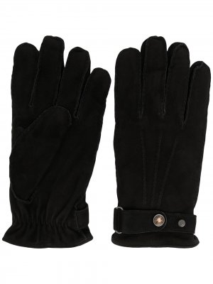 Перчатки с логотипом Lardini. Цвет: черный
