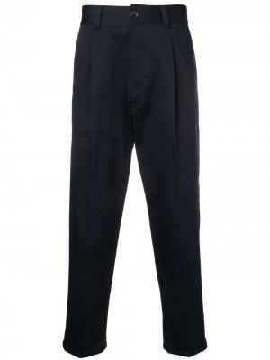 Укороченные классические брюки Pt01. Цвет: синий