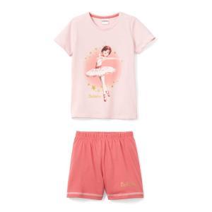 Пижама с шортами 2 - 10 лет BALLERINA. Цвет: розовый